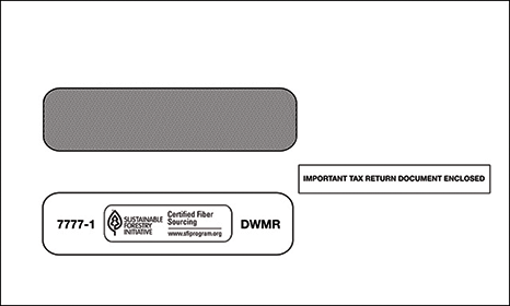 1099 2-UP Double Window Envelope Gum Seal