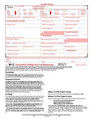 W-3 Tax Forms
