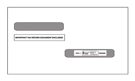 W2 / 1099-R Double Window Envelope