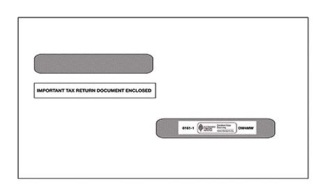 W2 / 1099-R Double Window Envelope