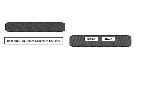 W-2 Laser 4-UP Double Window Envelope