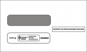 1099 2-UP Double Window Envelope Self Seal