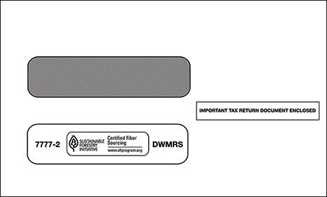 1099 2-UP Double Window Envelope Self Seal