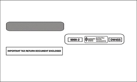 W-2 Laser 4-UP Double Window Envelope Self Seal
