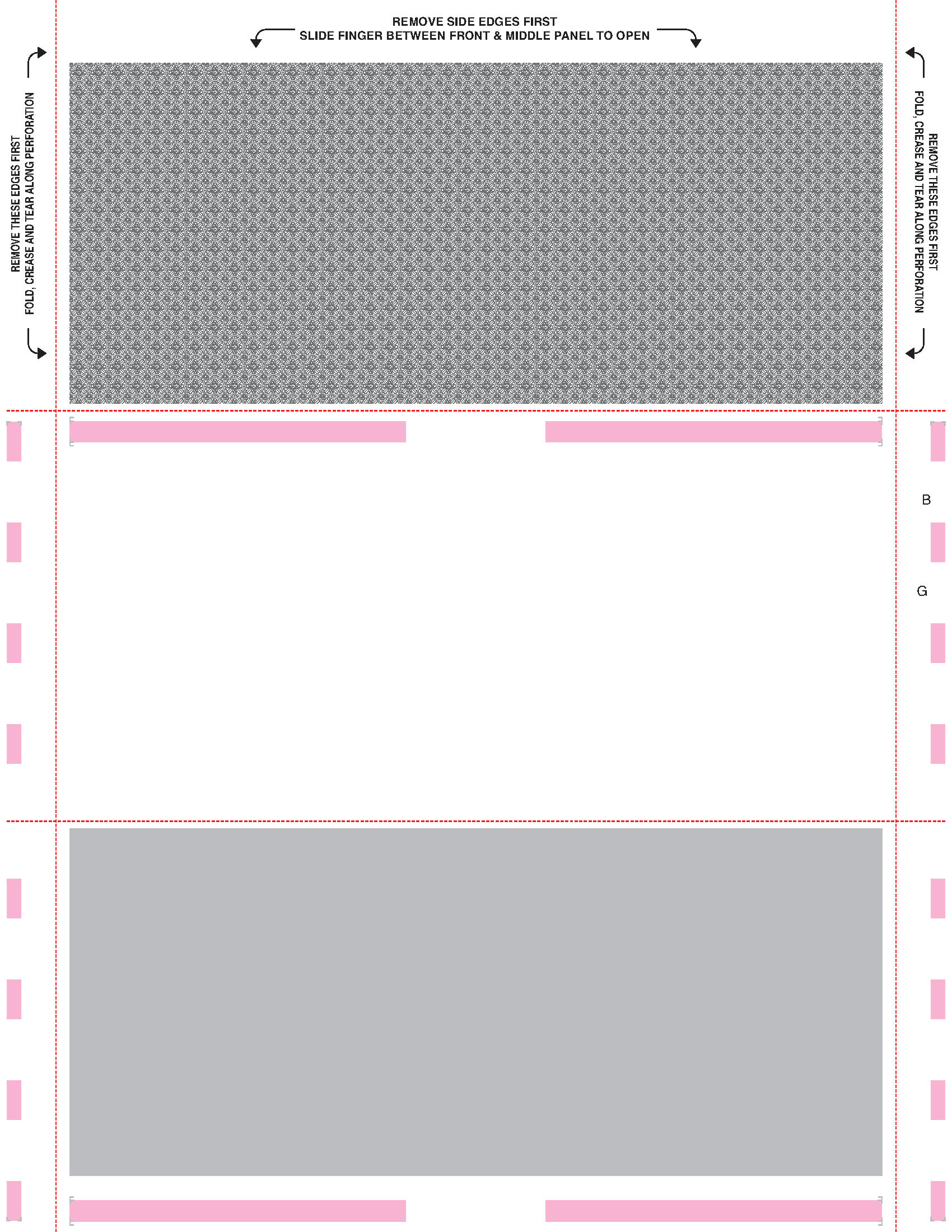 5498 Printed Face Z Fold Instructions On Face
