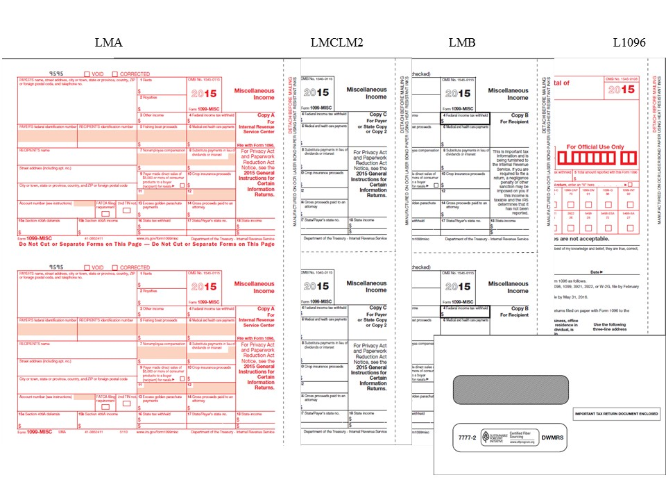 1099-misc Tax Forms and Envelopes