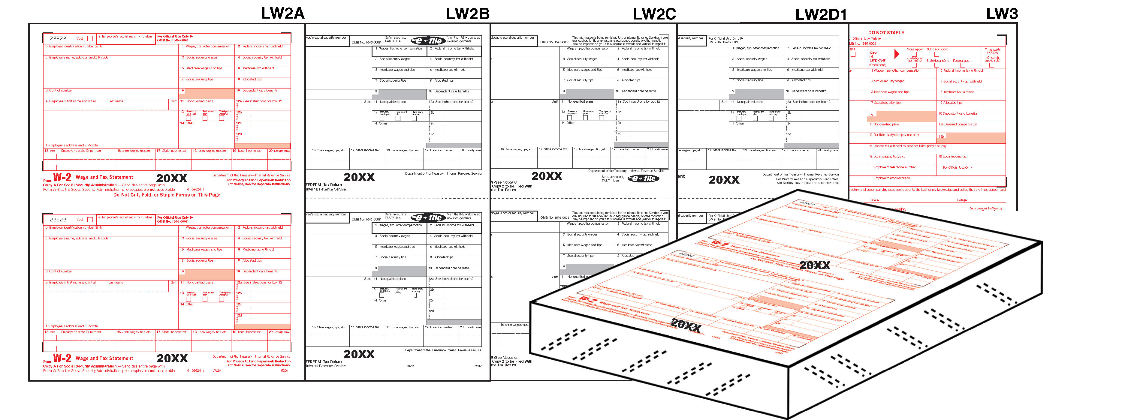 W-2 Tax Forms 2020