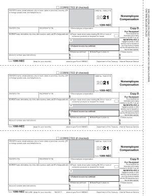Form 1099-NEC Copy B NECLMB 2021