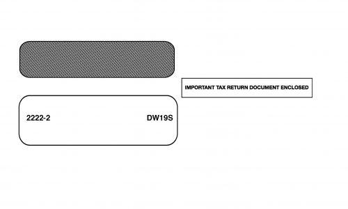 1099 Envelope - DW19S